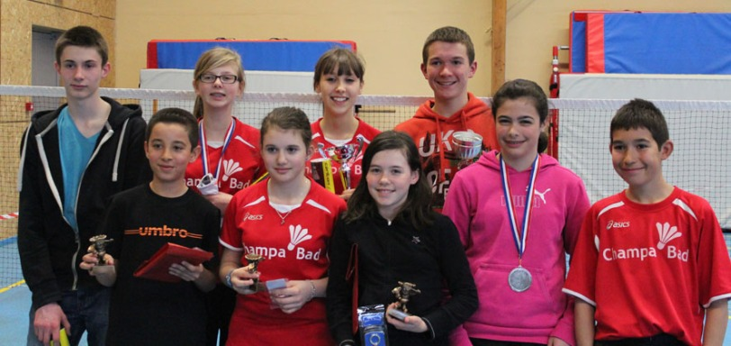 Les jeunes médaillés de Champa'Bad